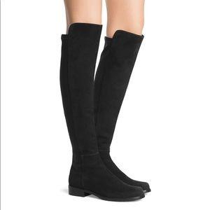 Stuart Weitzman 5050 black suede knee high boots